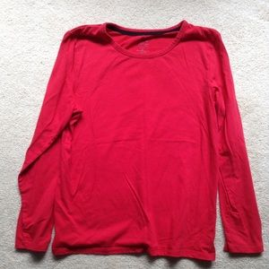 Sonoma red long sleeve intimates top